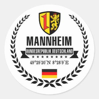 Sticker Rond Mannheim