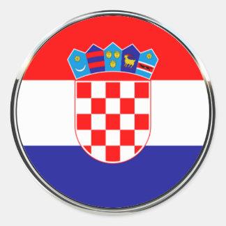 Sticker Rond Manteau croate de grb des bras | Hrvatski