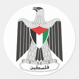 Sticker Rond Manteau de la Palestine d'autocollant de bras