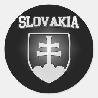 Sticker Rond Manteau de la Slovaquie des bras