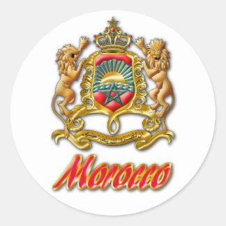 Sticker Rond Manteau du Maroc des bras