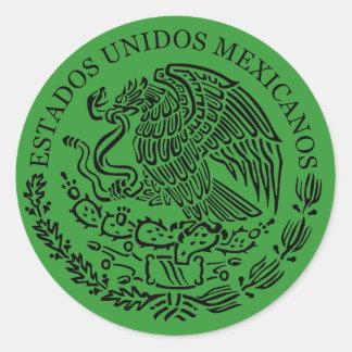 Sticker Rond Manteau mexicain d'autocollant de bras