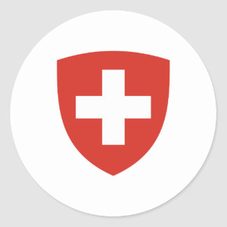 Sticker Rond Manteau suisse de bouclier de bras