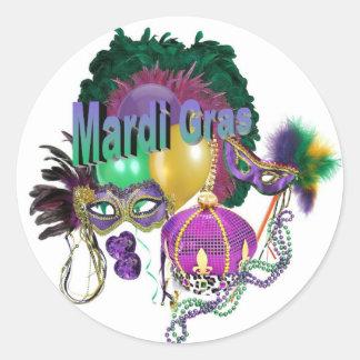 Sticker Rond Mardi gras