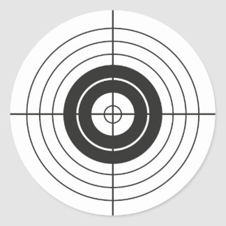 Sticker Rond marque ronde de conception de cercle de cible