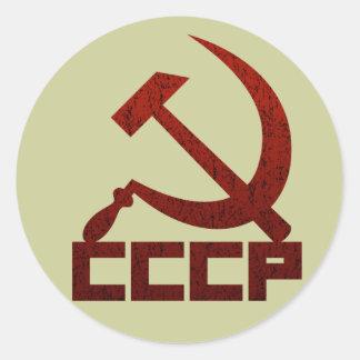 Sticker Rond Marteau et faucille de CCCP