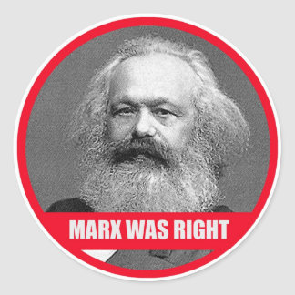 Sticker Rond Marx avait raison