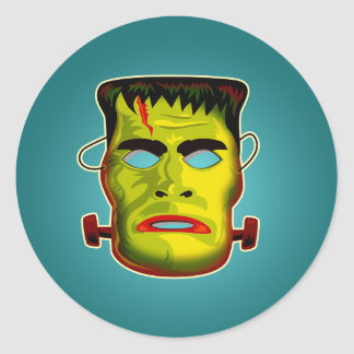 Sticker Rond Masque de monstre de Frankenstein