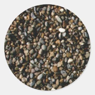 Sticker Rond mélange des pierres