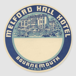 Sticker Rond Melford Hall Hotel