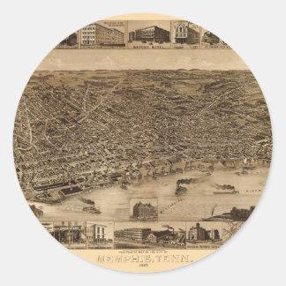 Sticker Rond Memphis Tennessee 1887