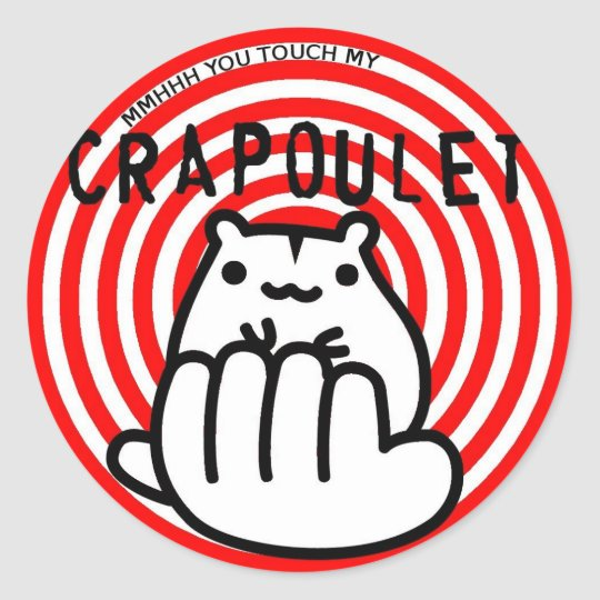 Sticker Rond Merch Crapoulet Records