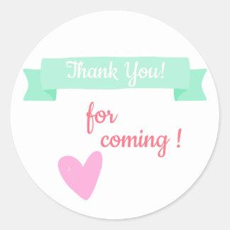 Sticker Rond Merci de baby shower/anniversaire de enfant