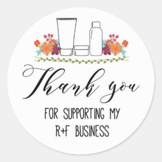 Sticker Rond Merci de soutenir mon affaire du RF