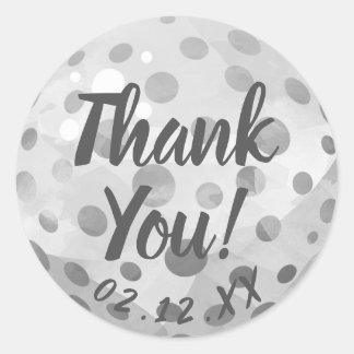 Sticker Rond Merci d'événement de boule de golf