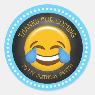 Sticker Rond Merci mignon d'anniversaire d'Emoji
