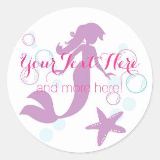 Sticker Rond Merci nautique de baby shower de partie d'océan de