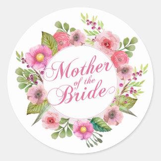 Sticker Rond Mère de l'autocollant élégant du mariage   de