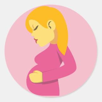 Sticker Rond Mère enceinte Emoji