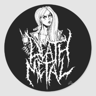 Sticker Rond Métal de la mort