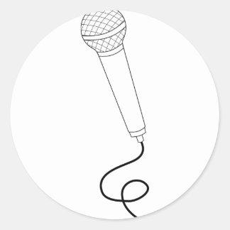 Sticker Rond Microphone avec le fil