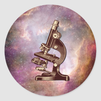 Sticker Rond Microscope vintage