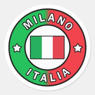 Sticker Rond Milan Italie