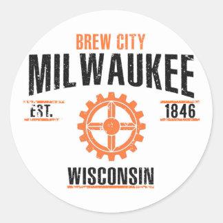 Sticker Rond Milwaukee