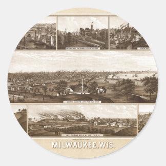 Sticker Rond Milwaukee 1882