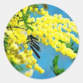 Sticker Rond Mimosa de France