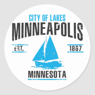 Sticker Rond Minneapolis