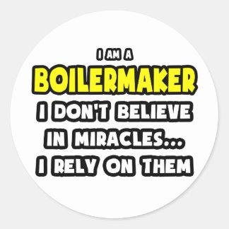 Sticker Rond Miracles et chaudronniers… drôles