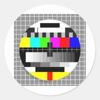 Sticker Rond Mire TV