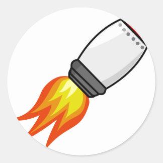Sticker Rond Missile de Rocket