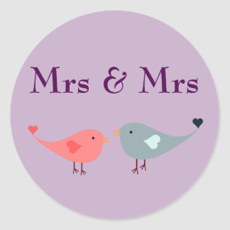 Sticker Rond Mme et Mme (mariage)