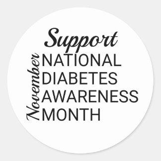 Sticker Rond Mois national de conscience de diabète de novembre