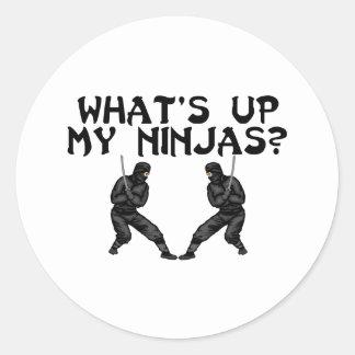 Sticker Rond Mon Ninjas