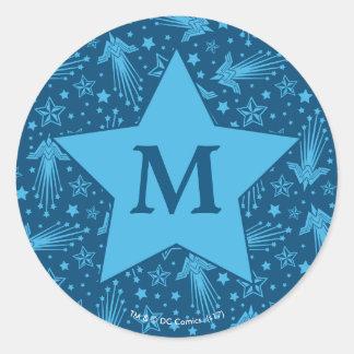 Sticker Rond Monogramme du motif | de symbole de femme de