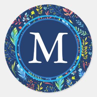 Sticker Rond Monogramme fait varier le pas