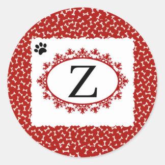 Sticker Rond Monogramme Z de chienchien