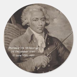 Sticker Rond Monsieur De St George