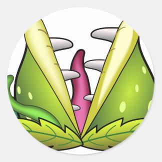 Sticker Rond monstre d'attrape-mouche de venus