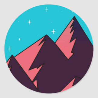 Sticker Rond Montagne