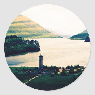 Sticker Rond Monument de Glenfinnan