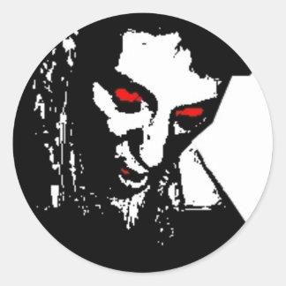Sticker Rond Mort vivant - Francois Ville