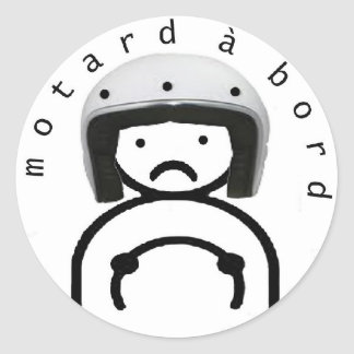 Sticker Rond MOTARD à BORD
