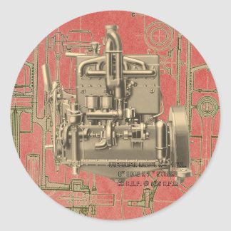 Sticker Rond Moteur à gaz K de Milwaukee le Wisconsin de moteur