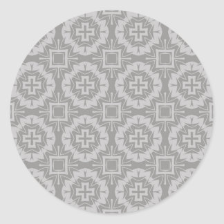 Sticker Rond motif 8773Grey