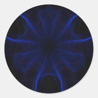 Sticker Rond motif bleu de laser
