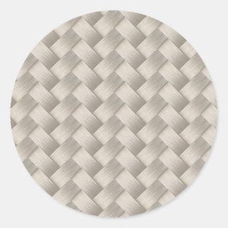 Sticker Rond Motif brillant moderne élégant d'armure